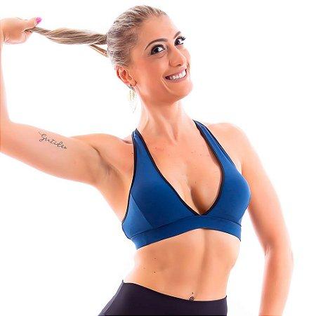Top Feminino Yla com Bojo - Azul