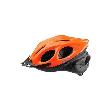 Capacete Adulto Ciclismo Laranja c/ Regulador