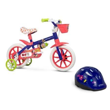 Bicicleta Aro 12 Show da Luna + Capacete Show da Luna