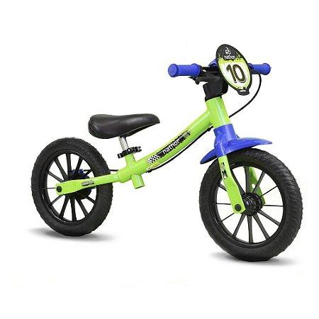 Bicicleta Equilibrio Balance Bike Masculina Verde
