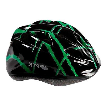 Capacete Pro Junior 46 a 55 Cm Preto Com Verde