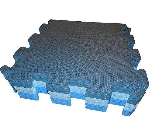 Kit 4 Tapetes Eva 50X50cm 10mm Cores Masculinas