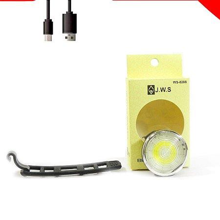 Lanterna traseira redonda Recarregável USB