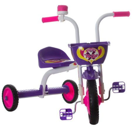 Triciclo Ultra Bike Top Girl  Branco / Roxo
