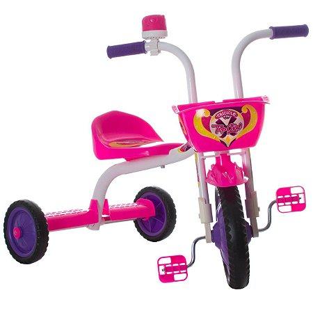 Triciclo Ultra Bike Top Girl Branco / Rosa