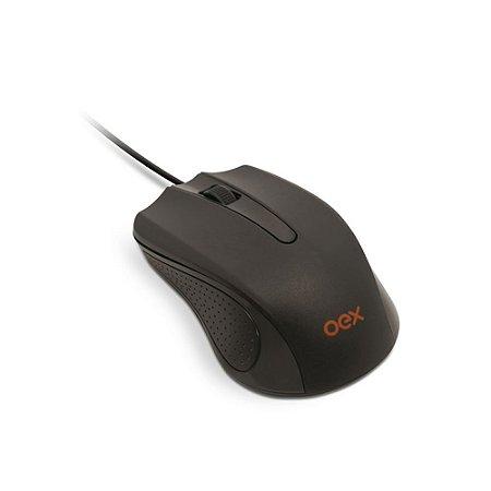 Mouse Com Fio Óptico MS 100 Oex 1000 Dpi