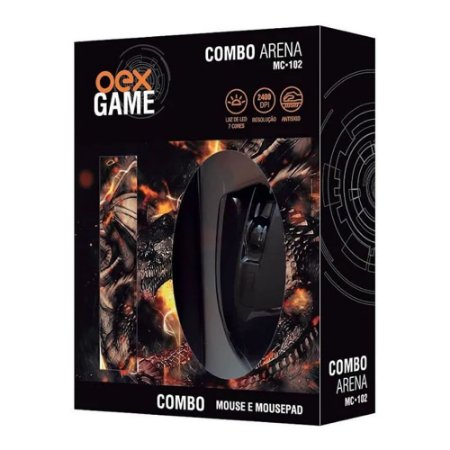 Combo Gamer Mouse + Mouse Pad Mc102 Oex