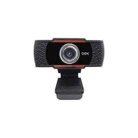 Webcam Oex Easy Usb P2 720p 30FPS Microfone Embutido Preto W200