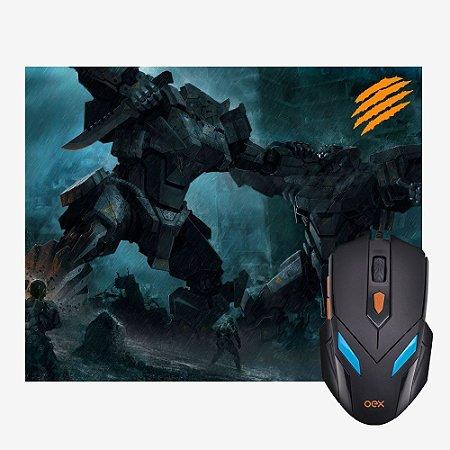 Combo Gamer Mouse + Mousepad Oex War MC100