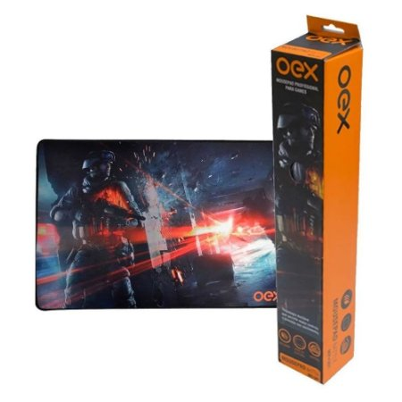 Mouse Pad Gamer Oex Battle 50x33cm MP301
