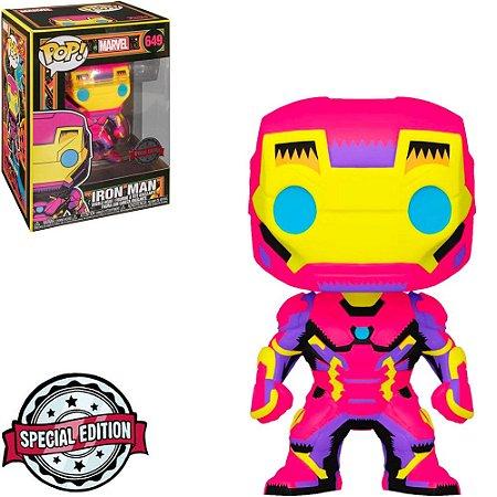 Funko Pop Marvel Black Light Iron Man 649 Exclusivo