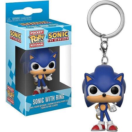 Chaveiro Funko Pocket Pop Keychain Sonic With Ring