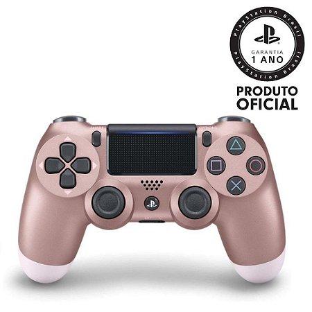 Controle sem Fio Dualshock 4 Sony PS4 - Rosa Gold - Seminovo
