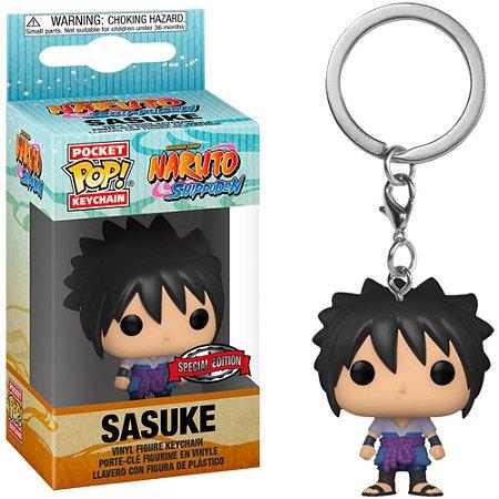 Chaveiro Funko Pocket Pop Keychain Naruto Shippuden Sasuke Exclusive