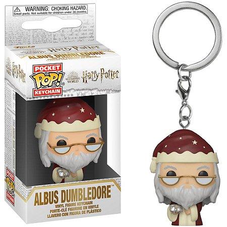 Chaveiro Funko Pocket Pop Keychain Harry Potter Albus Dumbledore Holiday