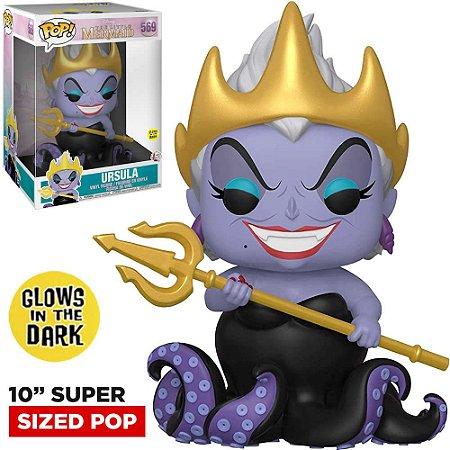 Funko Pop Disney Little Mermaid Super Size 10 Ursula 569 Brilha no Escuro