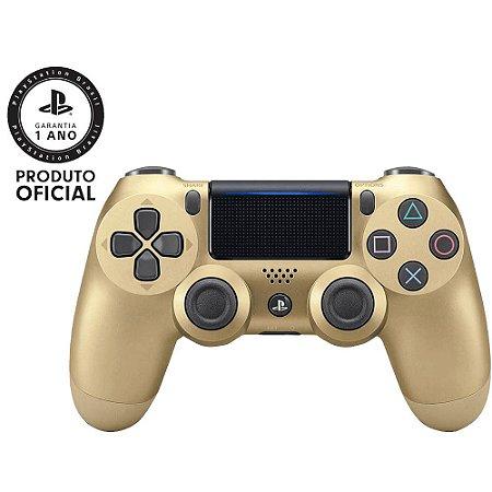 Controle sem Fio Dualshock 4 Sony PS4 - Dourado