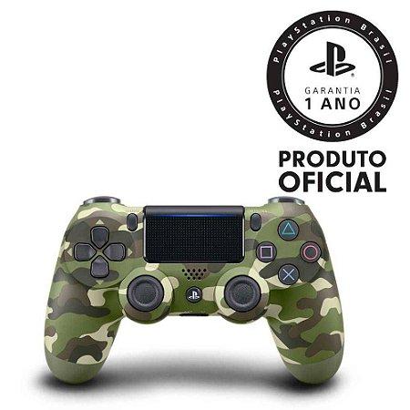 Controle sem Fio Dualshock 4 Sony PS4 - Camuflado Verde