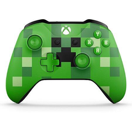 Controle sem Fio Xbox One Edição Especial Minecraft Creeper
