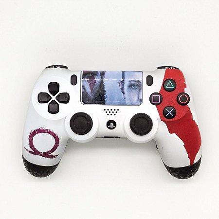 Controle Dualshock 4 - PS4 (Personalizado - God of War)