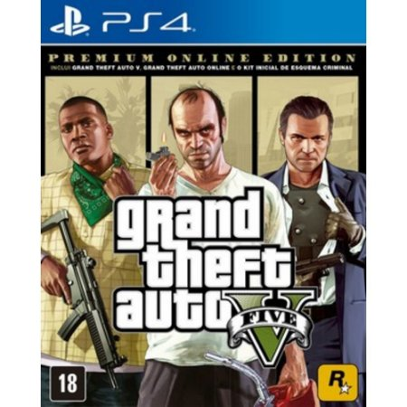 Jogo Grand Theft Auto V Premium Online Edition - PS4