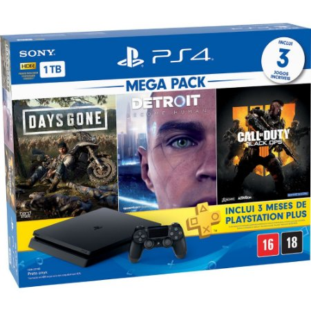 Console Playstation 4 Slim 1TB Hits Bundle (Call Of Duty BO4)