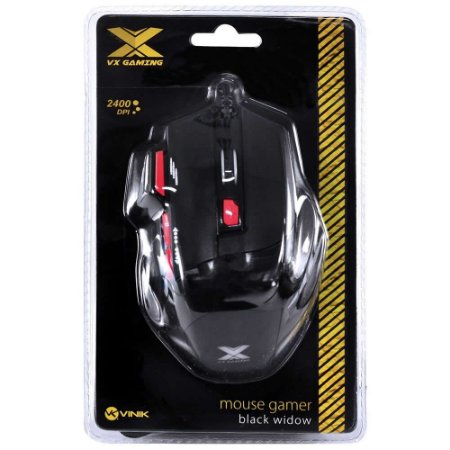 MOUSE GAMER VX GAMING BLACK WIDOW 2400 DPI AJUSTAVEL GM102