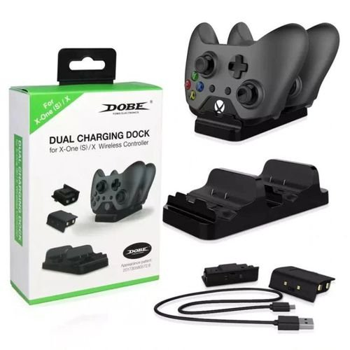 Dual Charging Dock Xbox One + Cabo USB