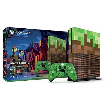 Console Xbox One S - 1 TB versão Minecraft