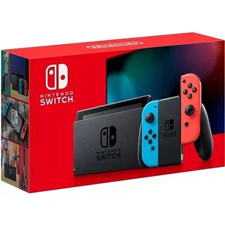 Console Nintendo Switch 32 Gb Neon - Bateira Estendida
