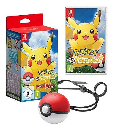 Jogo Pokemon Lets Go Pikachu Bundle Pokeball Plus Nintendo Switch