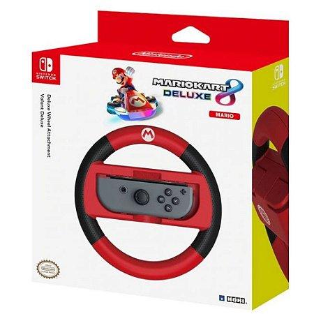 Volante De Corrida Mario Kart Hori Para Nintendo Switch - Mario (Nsw-054u)