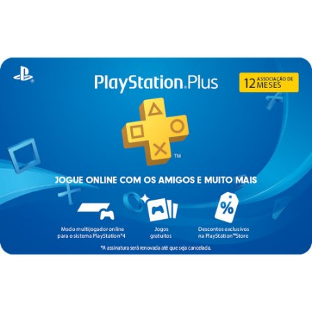 Gift Card Digital Sony Playstation Plus 12 Meses