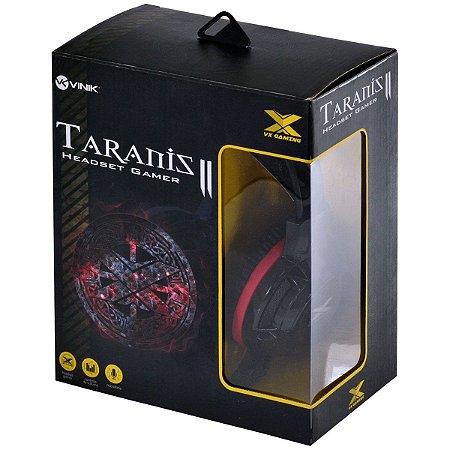 Headset VX Gaming Taranis V2 - Pretro e Vermelho