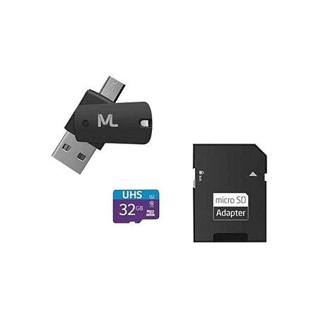 Cartão de Memória UHS1 32GB + Adaptador USB Dual