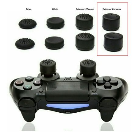 Par Grip Extensor de Analógico Convexo Xbox e Playstation - Cores Sortidas