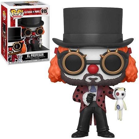 Funko Pop! La Casa De Papel - El Professor W/Clown Mask #915