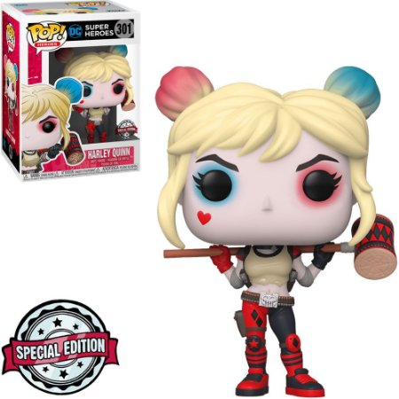 Funko Pop! Heroes - Dc Super Heroes Exclusive - Harley Quinn (With Mallet) #301