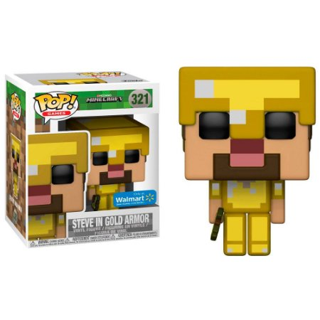 Funko Pop! Minecraft Exclusive - Steve in Gold Armor #321