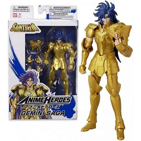 Boneco Articulado Saga de Gêmeos - Saint Seiya Cavaleiros do Zodíaco - Anime Heroes - Bandai