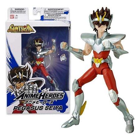 Boneco Articulado Seiya de Pegasus - Saint Seiya Cavaleiros do Zodíaco - Anime Heroes - Bandai