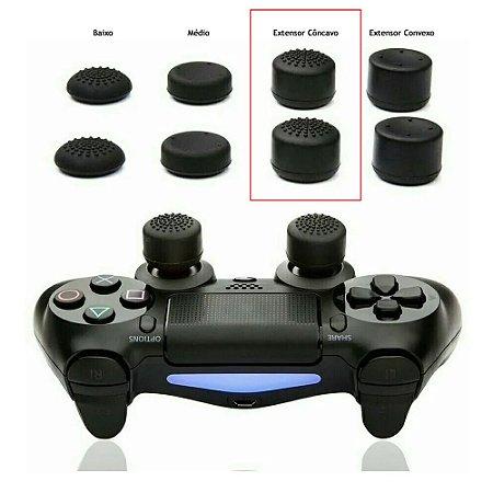 Par Grip Extensor de Analógico Côncavo Xbox e Playstation - Cores Sortidas