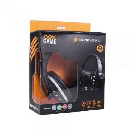 Headset Gamer Action X HS211 Preto - Oex