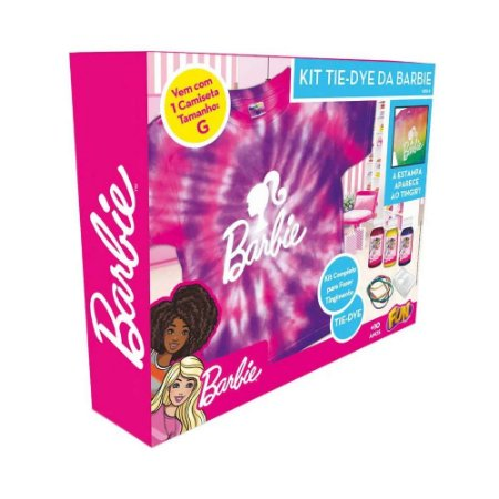 Kit Tie Dye Barbie Camiseta Tamanho G - Fun