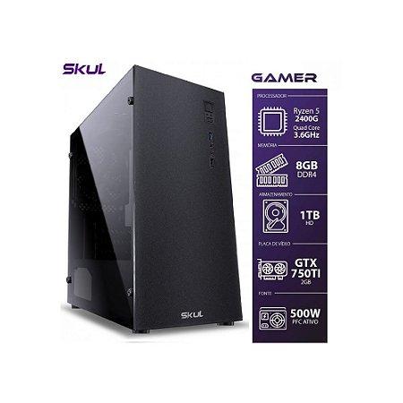 Computador Gamer 5000 - Ryzen 5 2400G 3.6Ghz Mem. 8Gb DDR4 Hd 1Tb Gtx750TI 2Gb Fonte 500W