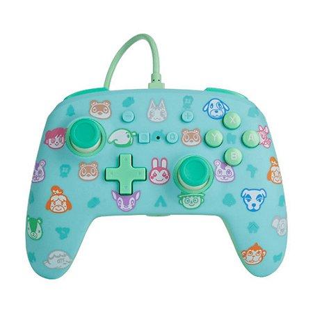 Controle Nintendo Switch Com Fio Animal Crossing PowerA