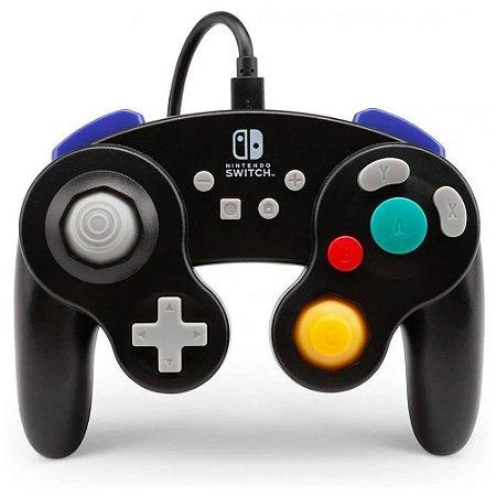 Controle Nintendo Switch Com Fio Estilo GameCube Preto PowerA