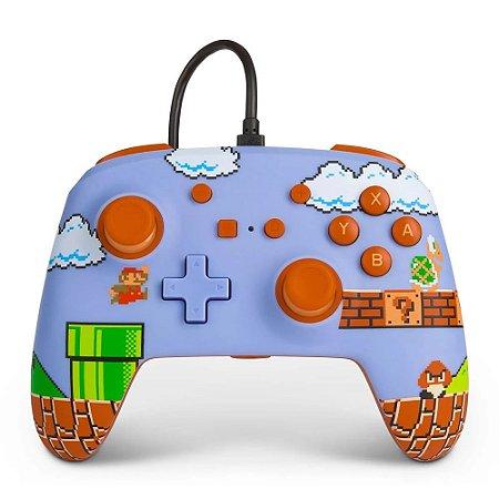 Controle Nintendo Switch Com Fio Super Mario Bros PowerA