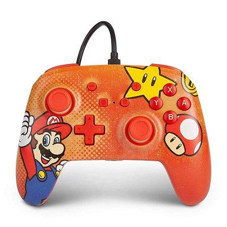 Controle Nintendo Switch Com Fio Super Mario Vintage PowerA