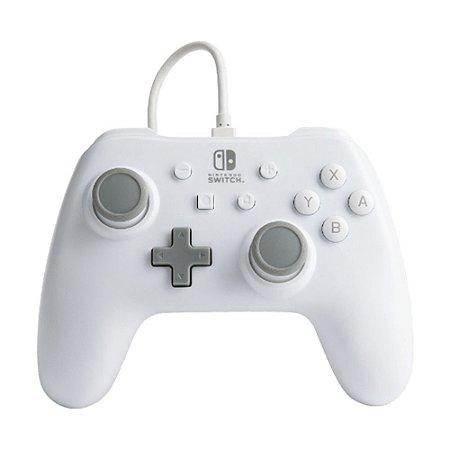 Controle Nintendo Switch Com Fio Branco PowerA